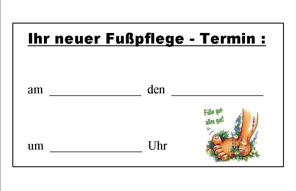 Medizinische Fußpflege Jemaya Petra Strempfer Visitenkarte